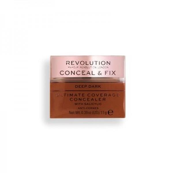 Revolution - Conceal & Fix Ultimate Coverage Concealer - Deep Dark