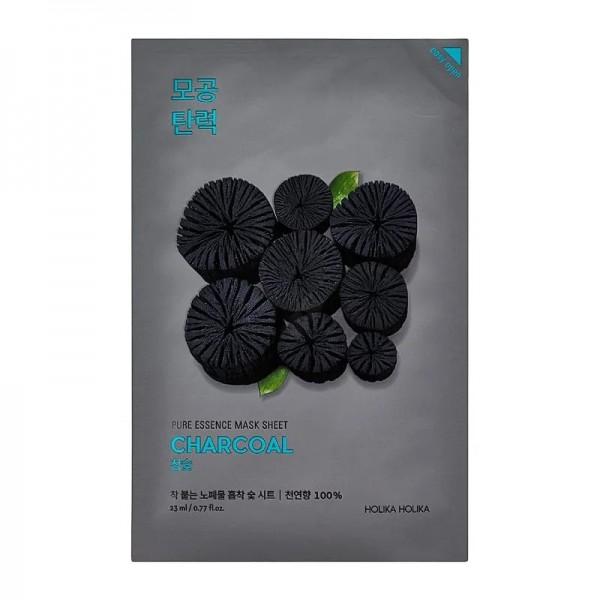 Holika Holika - Gesichtsmaske - Pure Essence Mask Sheet Charcoal - Kohle