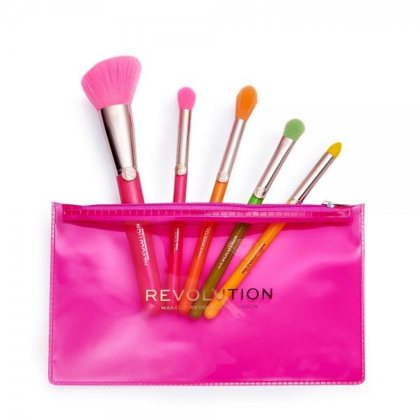 Revolution - Kosmetikpinselset - Neon Heat Brush Set