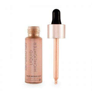 Makeup Revolution - Flüssiger Highlighter - Liquid Highlighter - Liquid Bronze Gold