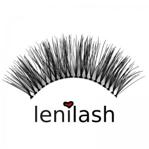 lenilash - Falsche Schwarze Wimpern Nr. 118 - Echthaar