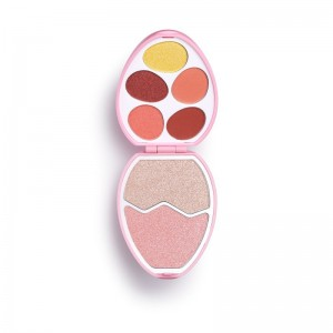 I Heart Revolution - Lidschattenpalette - Face And Shadow Palette - Easter Egg - Flamingo