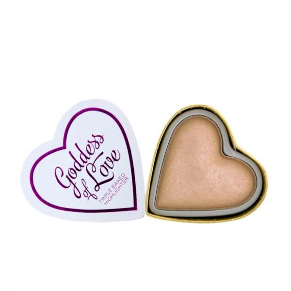 I Heart Makeup - Triple Baked Highlighter - Blushing Hearts - Goddess of Faith