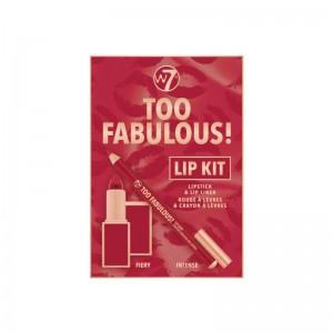W7 - lip kit - Too Fabulous! 2pcs Lip Kit