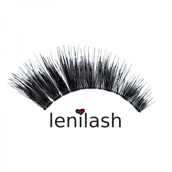lenilash - False Eyelashes - Black - Human Hair - Nr. 130