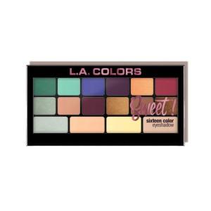 LA Colors - Eyeshadow Palette - Sweet! Sixteen Color Eyeshadow Palette - Playful