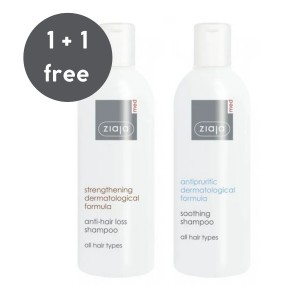 Ziaja Med - Pflegeset - Anti-Hair Loss Shampoo + Antipruritic Soothing Shampoo