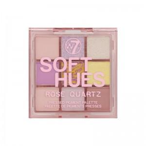 W7 - Lidschattenpalette - SOFT HUES Pressed Pigment Palette - Rose Quartz
