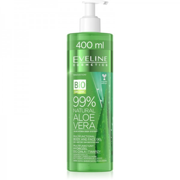 Eveline Cosmetics - Gesichts- & Körpergel - Bio Organic - 99% Natural Aloe Vera Body & Face Gel - 40