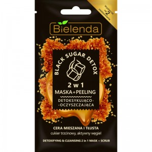 Bielenda - Black Sugar Detox Face Mask + Scrub For Mixed And Greasy Skin