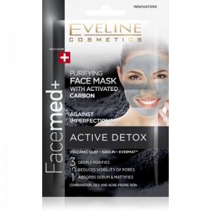 Eveline Cosmetics - Gesichtsmaske - Facemed Purifying Face Mask mit Aktivkohle