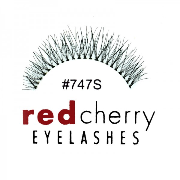 Red Cherry - False Eyelashes No. 747S Primrose - Human Hair
