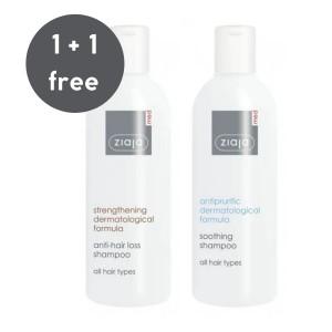 Ziaja Med - Pflegeset - Anti-Hair Loss Shampoo + Antipruritic Soothing Shampoo