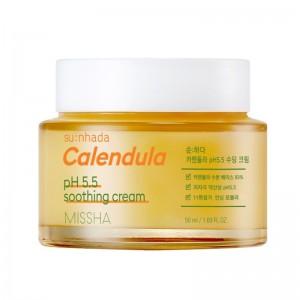 Missha - Tagescreme - Sunhada Calendula pH Balancing Soothing Creme