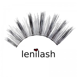 lenilash - Falsche Wimpern - Schwarz - Echthaar - Nr.150