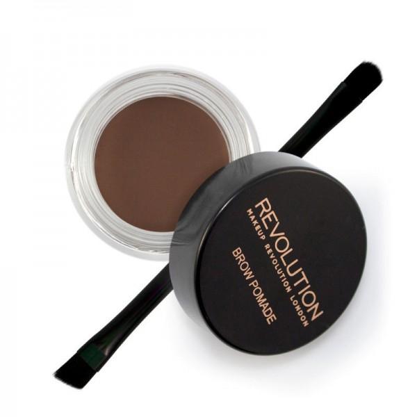 Makeup Revolution - Augenbrauengel - Brow Pomade - Dark Brown