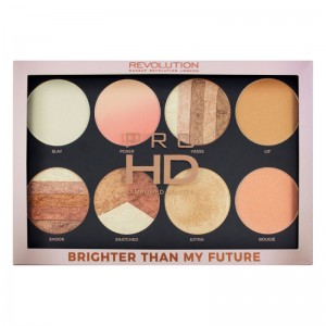 Makeup Revolution - Highlighterpalette - Pro HD Palette Brighter Than My Future