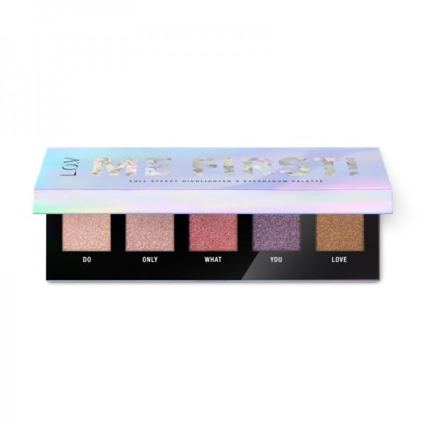 L.O.V - Lidschattenpalette & Highlighter - ME FIRST! full effect highlighter X eyeshadow palette
