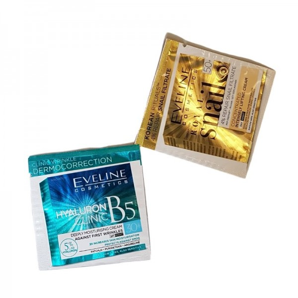 Eveline Cosmetics - Probenset - Royal Snail Tages- und Nachtcreme 50+ & Hyaluron Clinic Tag- und Nac