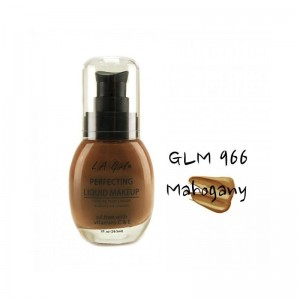 LA Girl - Foundation - Perfecting Liquid Makeup Oil Free - Mahogany