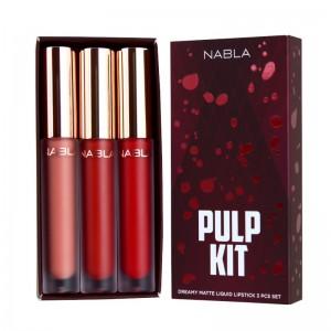 Nabla - Flüssige Lippenstifte - Dreamy Matte Liquid Lipstick Set - Pulp Kit