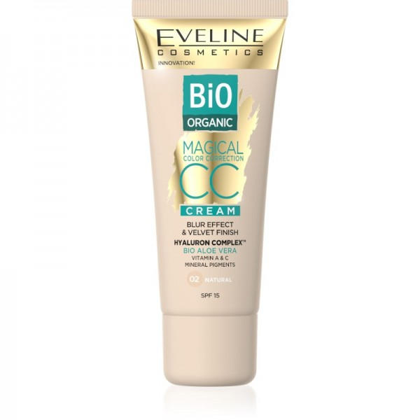 Eveline Cosmetics - CC Cream - Magical CC Cream Bio Organic Aloe Vera - 02 Natural