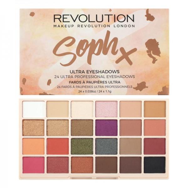 Makeup Revolution - Lidschattenpalette - Soph 24 Ultra Professional Eyeshadows Palette V4