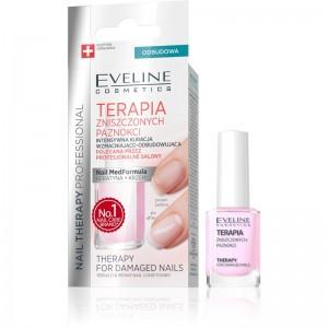 Eveline Cosmetics - cura delle unghie - Nail Therapy For Damaged Nails Rebuild & Repair Conditioner