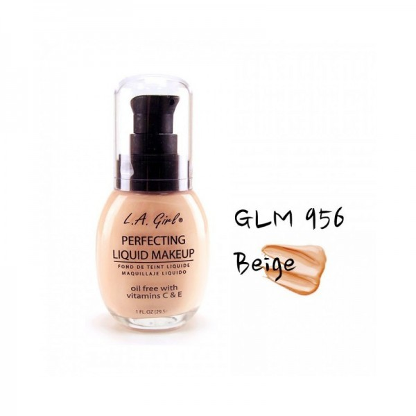 LA Girl - Foundation - Perfecting Liquid Makeup Oil Free - Beige