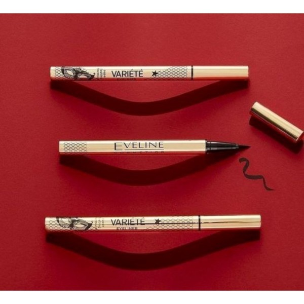 Eveline Cosmetics - Eyeliner - Variete Eyeliner Waterproof Ultra Black