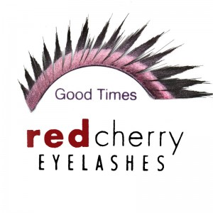 Red Cherry - False Eyelashes - Glitter - Good Times Black/Pink