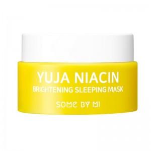 Some By Mi - Face Mask - Yuja Niacin Brightening Sleeping Mask Mini