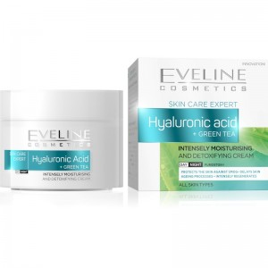 Eveline Cosmetics - Hyaluronic Acid + Green Tea Intensely Moisturising - Day/Night Cream
