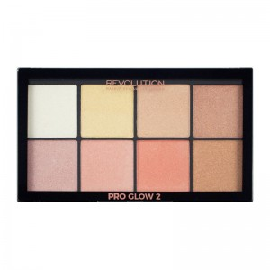 Makeup Revolution - Highlighter Palette - Pro Glow 2
