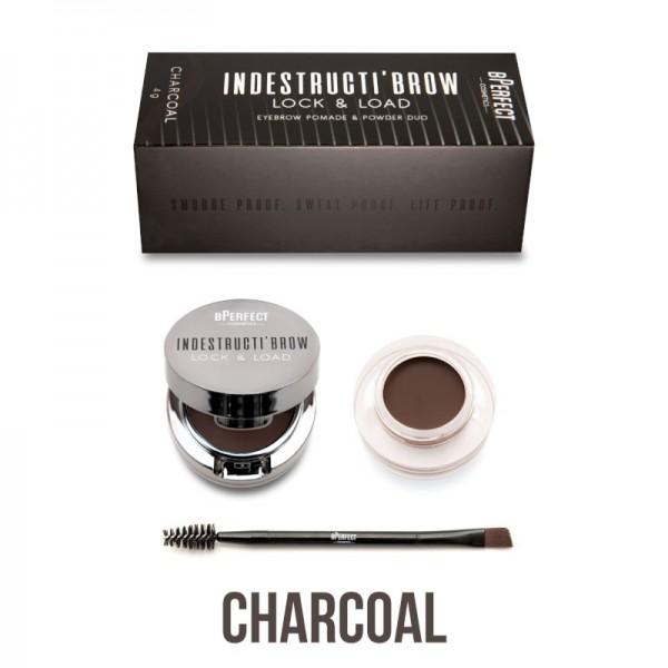 BPerfect - indestructibrow Brow Lock & Load Eyebrow Pomade & Powder Duo - Charcoal