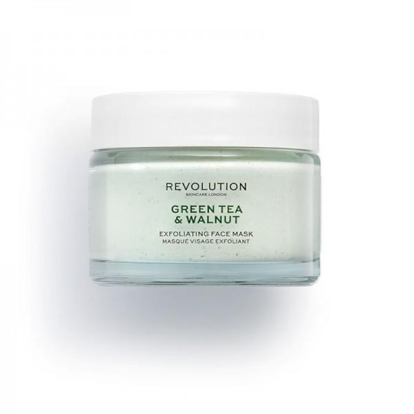 Revolution - Gesichtsmaske - Skincare Green Tea & Walnut Exfoliating Face Mask
