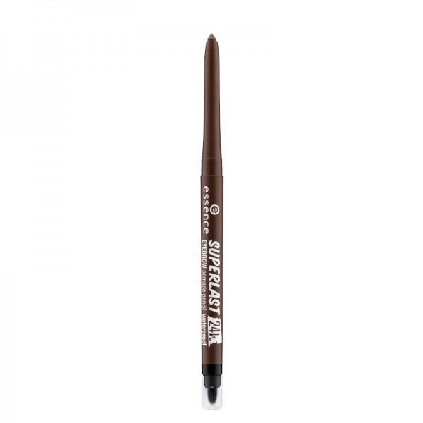 essence - Augenbrauenstift - superlast 24h eyebrow pomade pencil waterproof - dark brown