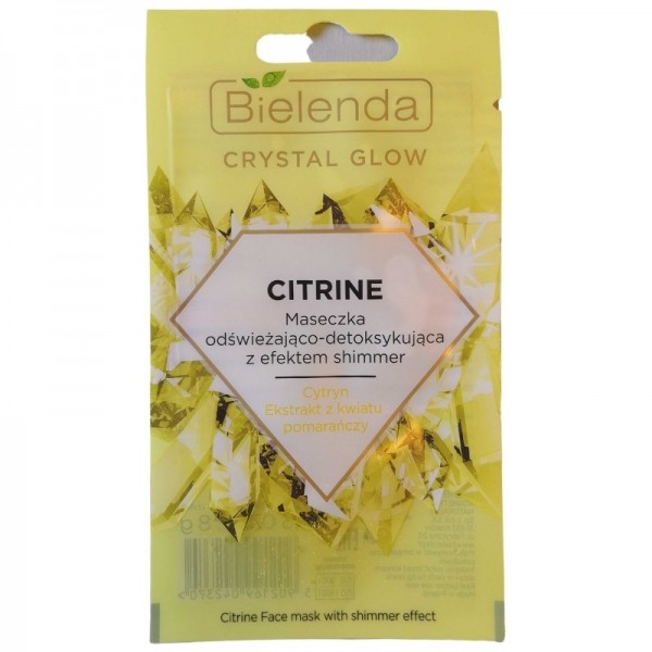 Bielenda - Gesichtsmaske - Crystal Glow Citrine Face Mask with Shimmer Effect