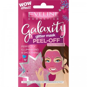 Eveline Cosmetics - Gesichtsmaske - Galaxity Glitter Mask Peel-Off Brilliant Princess