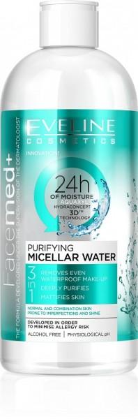 Eveline Cosmetics - Mizellenwasser - Facemed+ reinigendes Mizellenwasser