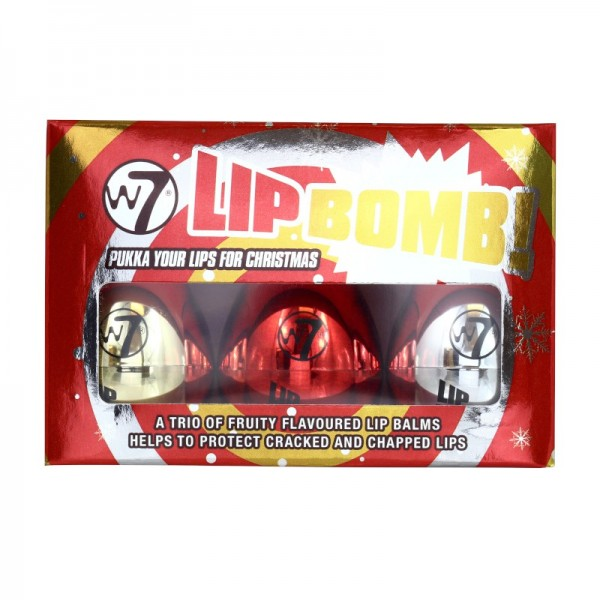 W7 Cosmetics - Lippenpflege - Christmas Lip Bomb Trio
