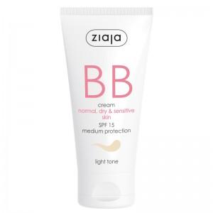 Ziaja - BB Cream - Normal, Dry and Sensitive Skin - Light Tone SPF15