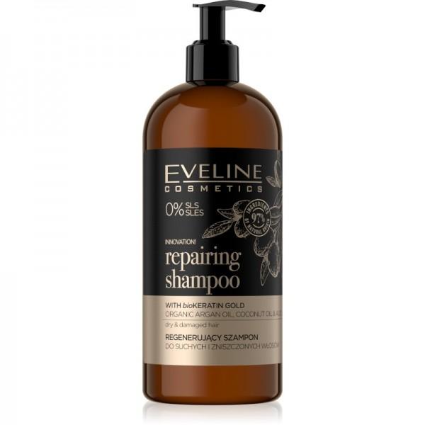 Eveline Cosmetics - Haarshampoo - Organic Gold Repairing Shampoo - 500ml