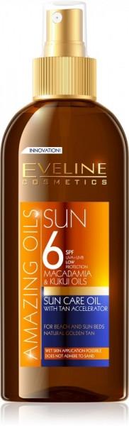 Eveline Cosmetics - Amazing Oils Sun Care Oil With Tan Accelerator Spf6 150Ml