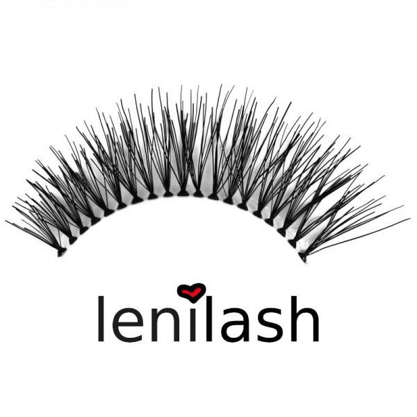 lenilash - Falsche Wimpern - Schwarz - Nr.124 - Echthaar