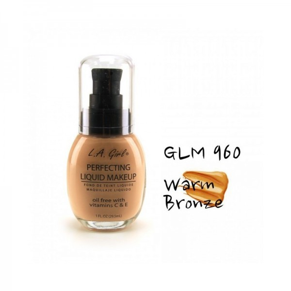 LA Girl - Foundation - Perfecting Liquid Makeup Oil Free - Warm Bronze