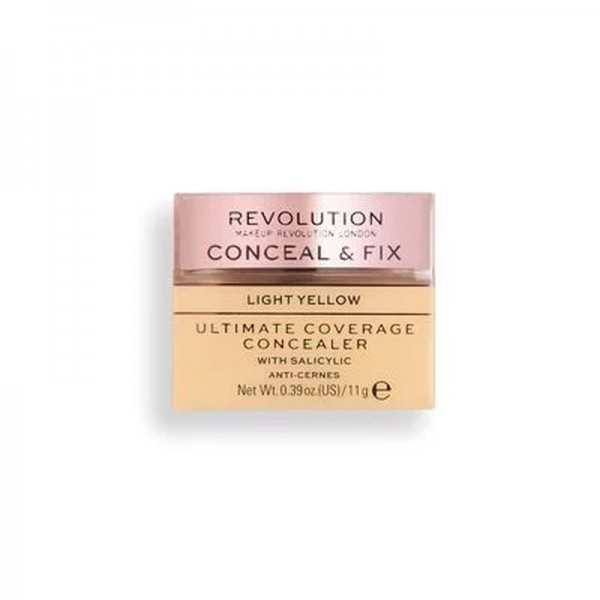 Revolution - Conceal & Fix Ultimate Coverage Concealer - Light Yellow