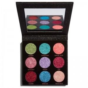 Makeup Revolution - Lidschattenpalette - Pressed Glitter Palette - Abracadabra