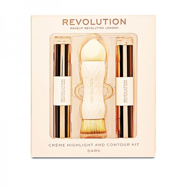 Makeup Revolution - Creme Highlight and Contour Kit - Dark