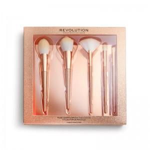 Revolution - Kosmetikpinselset - Precious Stone Brush Set Rose Quartz